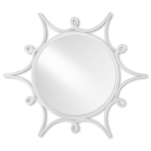 Sabina Gesso White Wall Mirror