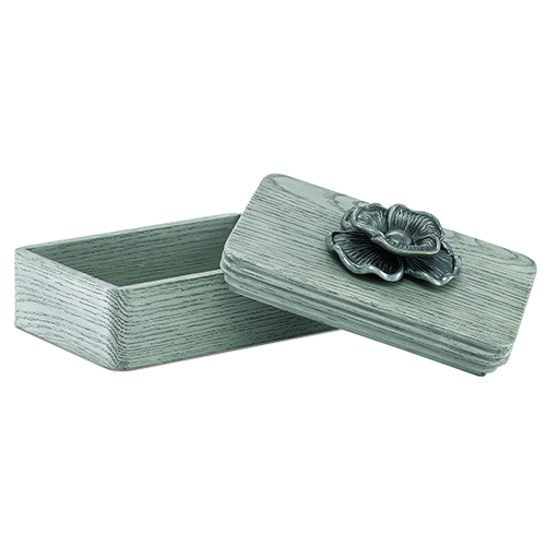 Briallen Winter Gray and Antique Silver Decorative Box