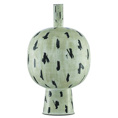 Declan Antique Cream and Black 12-Inch Vase