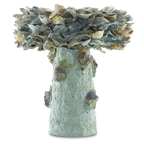Natural 14-Inch Oyster Shell Bird Bath