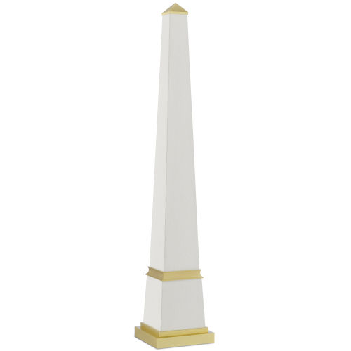Pharaoh White and Brushed Brass Large Obelisk