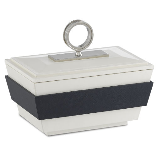 Brash White and Navy Small Box