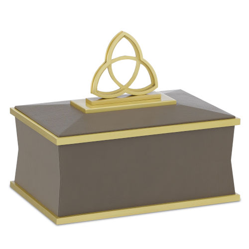 Trinity Taupe and Brushed Brass Small Box