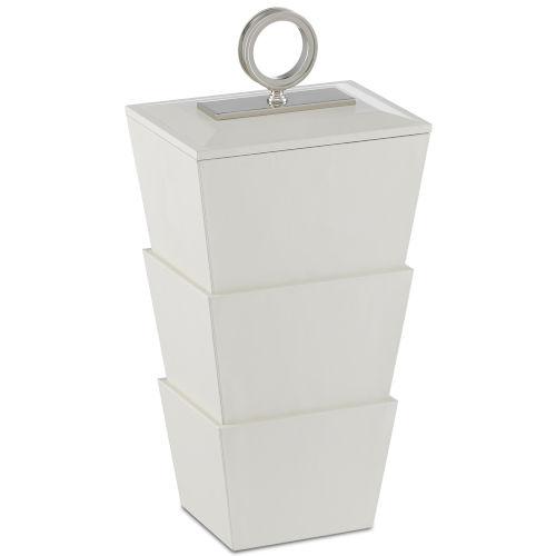 Brash White and Nickel Medium Box