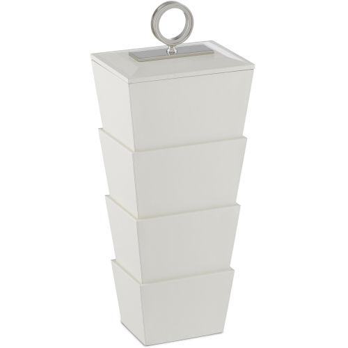 Brash White and Nickel Large Box