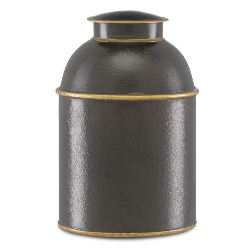 London Black and Gold Small Tea Box