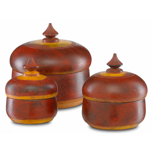 Jaisalmer Red and Yellow Box, Set of 3