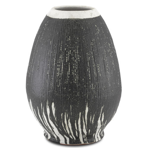 Chartwell Textured Black and White Urn