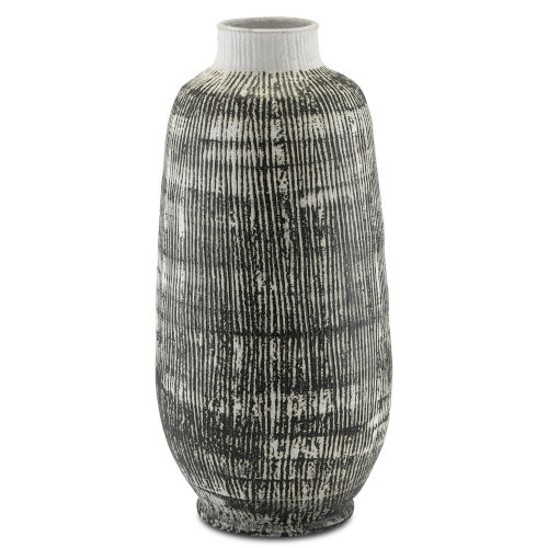 Cape Town Textured Black and White Urn
