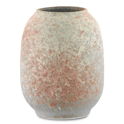 Sunset Gray and Coral Small Vase