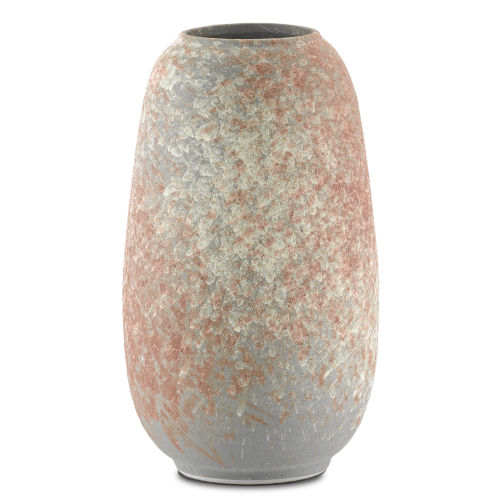Sunset Gray and Coral Medium Vase
