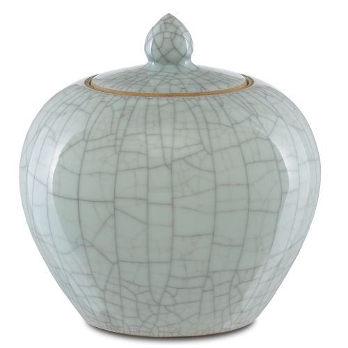 Maiping Celadon Crackle Ginger Jar