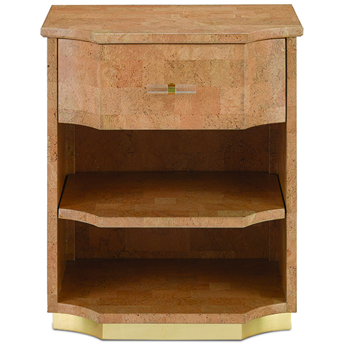Currey & Company Natural Cork and Brass Chest