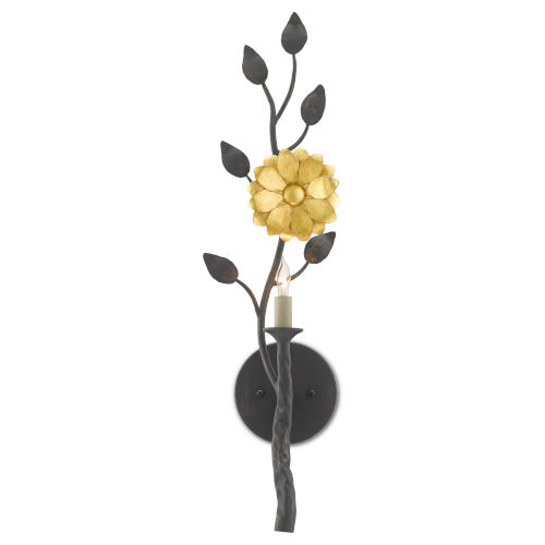 Oona French Black and Contemporary Gold One-Light Wall Sconce