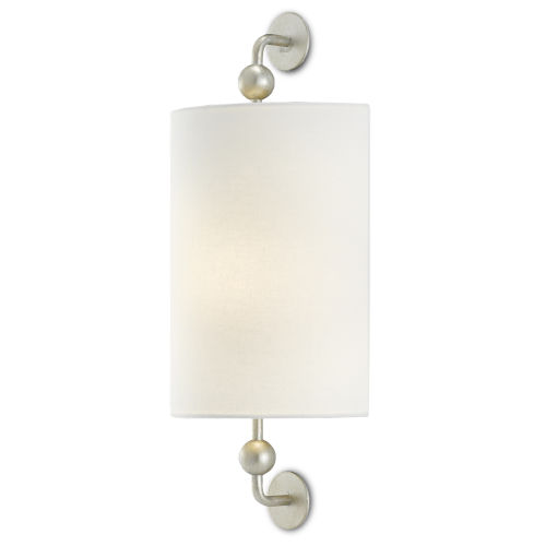 Tavey Contemporary Silver One-Light Wall Sconce