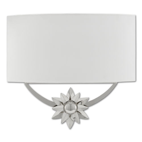 Dayflower Polished Nickel One-Light Wall Sconce