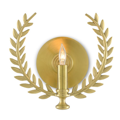Lauritz Satin Brass One-Light Wall Sconce