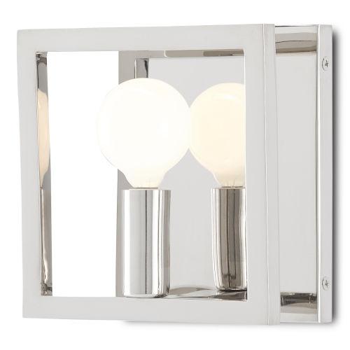 Quadrato Polished Nickel One-Light Wall Sconce