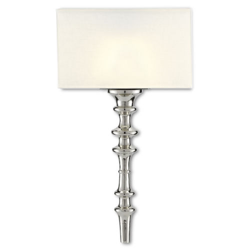 Achmore Nickel Black One-Light Wall Sconce