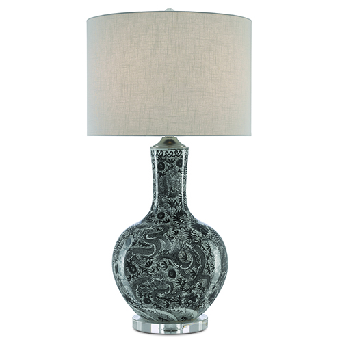 Sheng Black and Polished Nickel One-Light Table Lamp