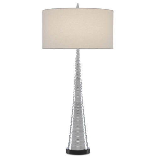 Scotia Polished Aluminum One-Light Table Lamp