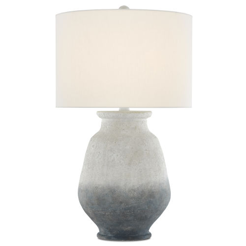 Cazalet Ash Ivory and Blue One-Light Table Lamp