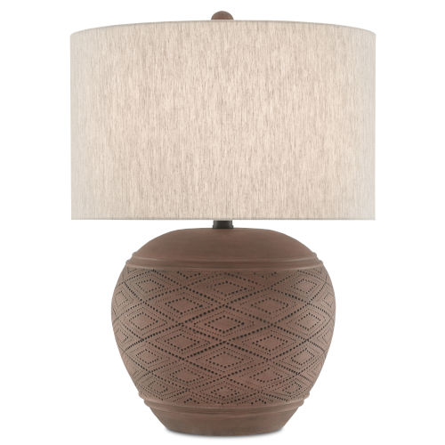 Sunningdale Red Wood One-Light Table Lamp