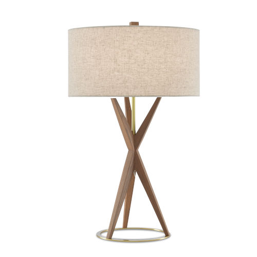 Variation Teak One-Light Table Lamp