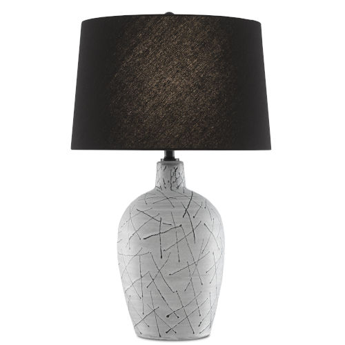 Pippa Cloud and Black One-Light Table Lamp