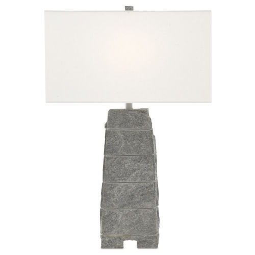 Branwen Natural Rock and White One-Light Table Lamp