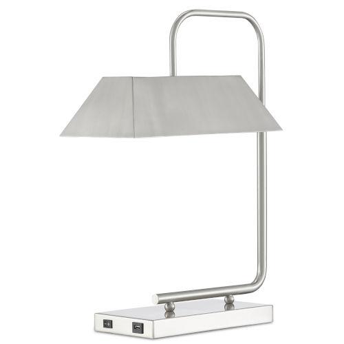 Hoxton Satin Nickel Two-Light Table Lamp