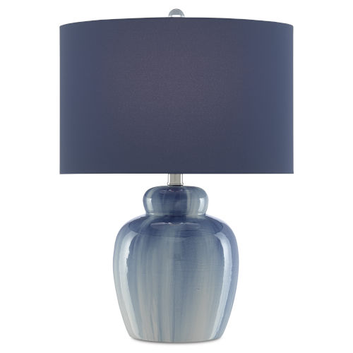 Saine Blue One-Light Table Lamp