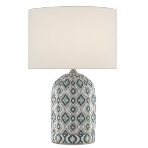 Aubri Blue Green and Gray One-Light Table Lamp
