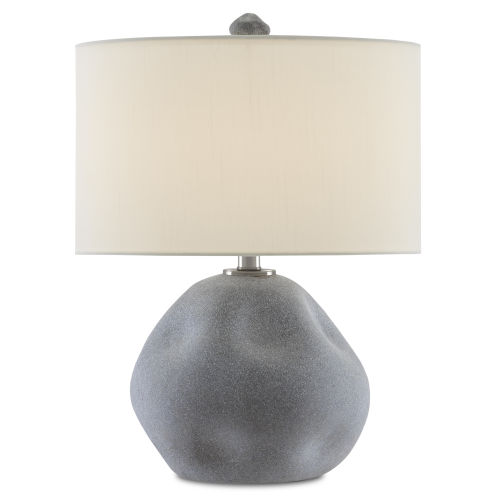 Riverrock Blue Stone and Antique Nickel One-Light Table Lamp