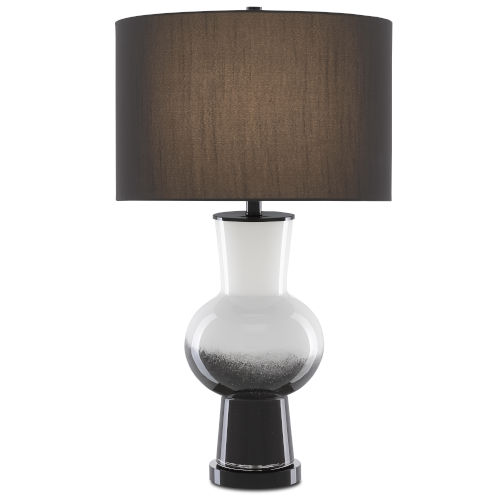 Duende White and Glossy Black One-Light Table Lamp
