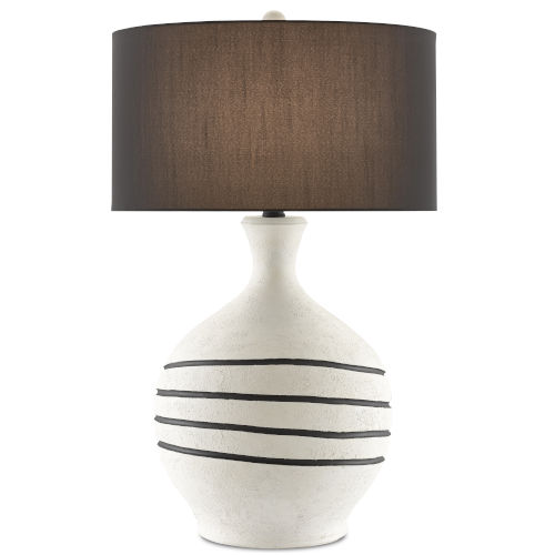 Nabdean Cream and Black One-Light Table Lamp