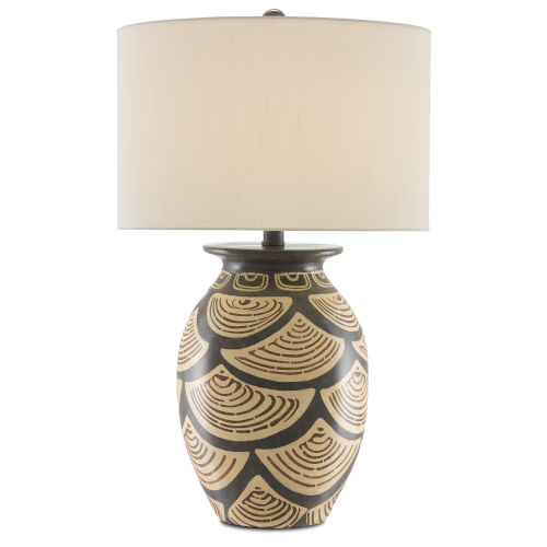 Nahau Sand and Brown One-Light Table Lamp