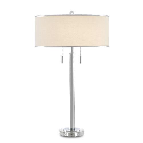 Lafew Chrome Two-Light Table Lamp