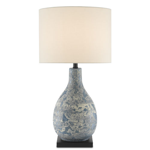 Ostracon Vintage Blue One-Light Table Lamp