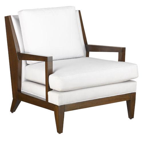 Andaz Muslin and Dark Walnut Chair