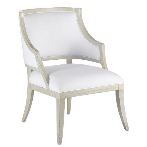 Brandy Gray Salt Pewter Muslin Occasional Chair