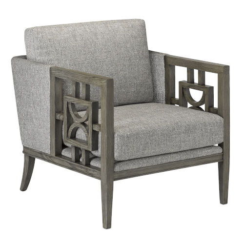 Royce Winter Gray Silver Occasional Chair