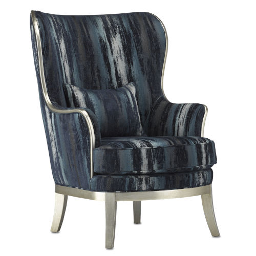 Veronica Indigo and Harlow Silver Chair
