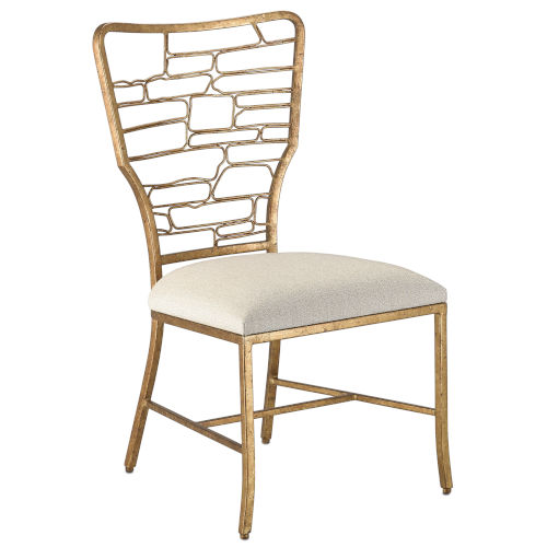 Vinton Sand and Guilt Bronze Side Chair