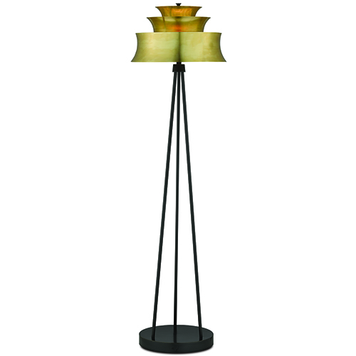 Altson Polished Brass and Oil Rubbed Bronze One-Light Table Lamp