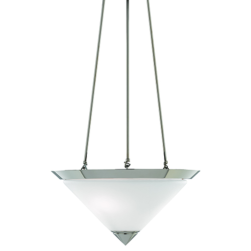 Currey & Company Latimer Polished Nickel and Frosted White Two-Light Pendant
