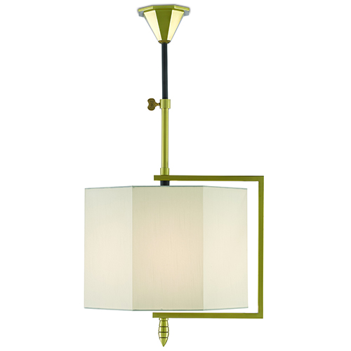 Hopper Brushed Brass and Oil Rubbed Bronze One-Light Pendant