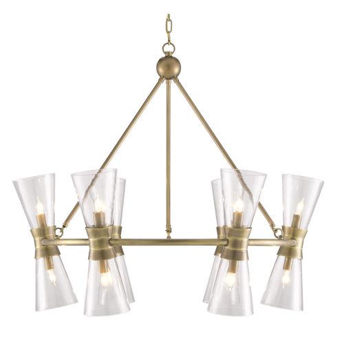 Quennell Antique Brass 12-Light Chandelier