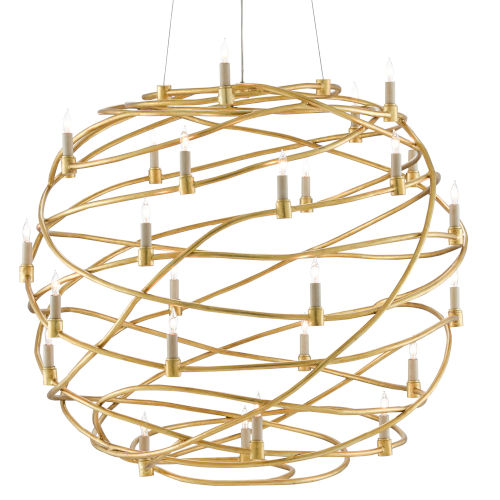 Franchette Contemporary Gold 26-Light Chandelier