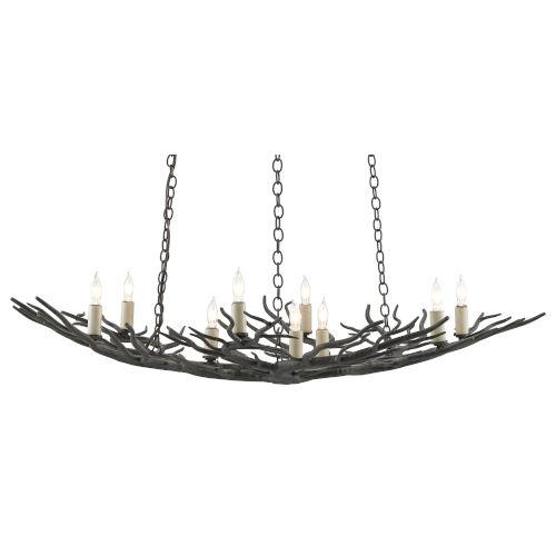 Rainforest Rustic Bronze Nine-Light Chandelier